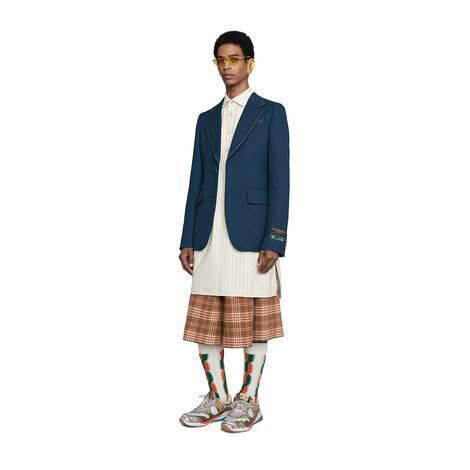 饰缝线斜纹布夹克
