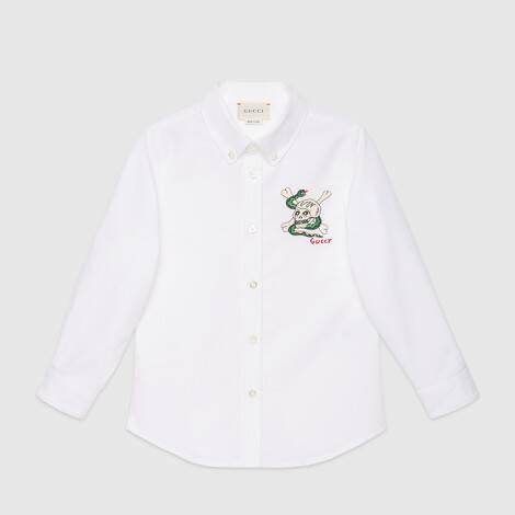 儿童刺绣棉质衬衫
