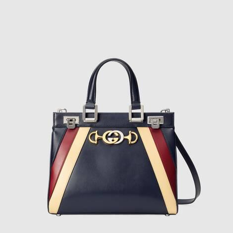 Gucci Zumi 系列光面皮革小号手提包