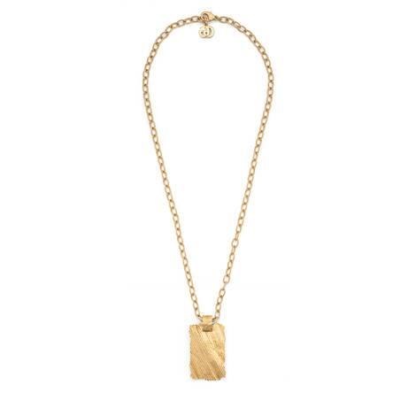 织纹金属吊坠项链