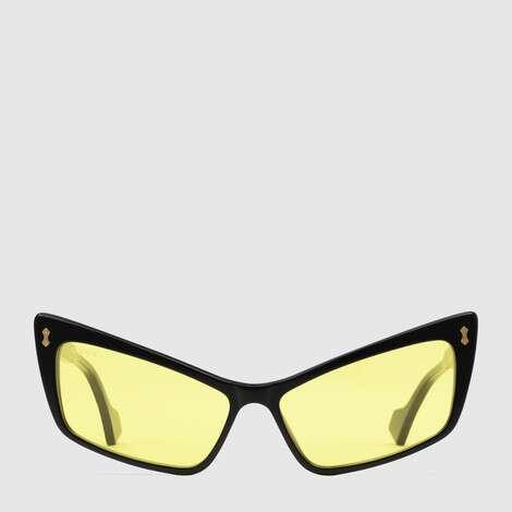 长方形镜框醋纤太阳眼镜