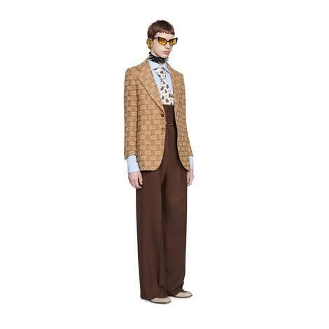 织纹 G 羊毛夹克