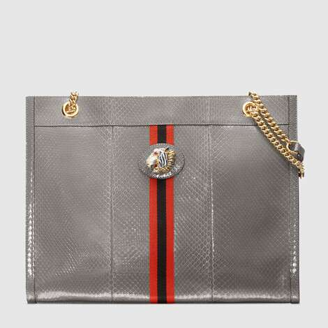Rajah 系列蛇皮大号购物袋