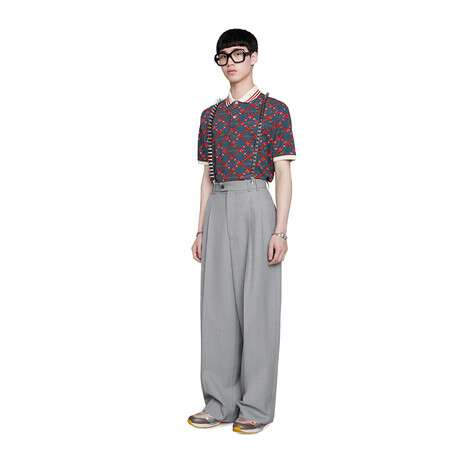 超大造型印花 Polo 衫