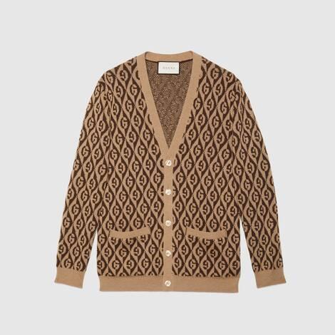 G 菱形羊毛开衫