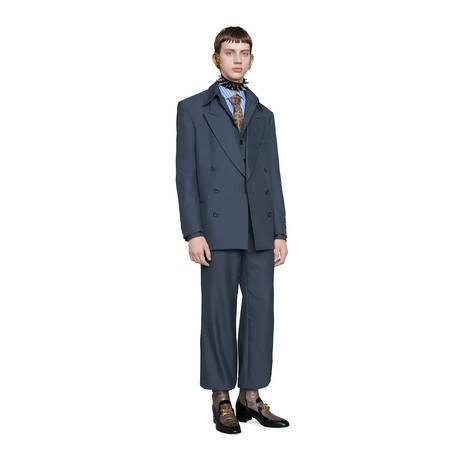 哈伦裤风格粗斜纹布长裤