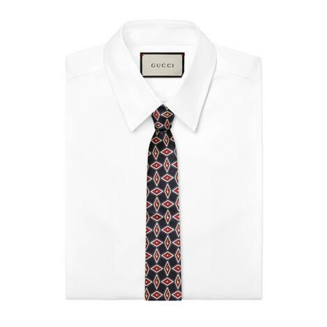 几何 G 真丝领带