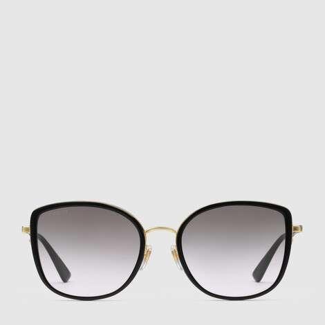 贴合设计方形镜框醋纤太阳眼镜