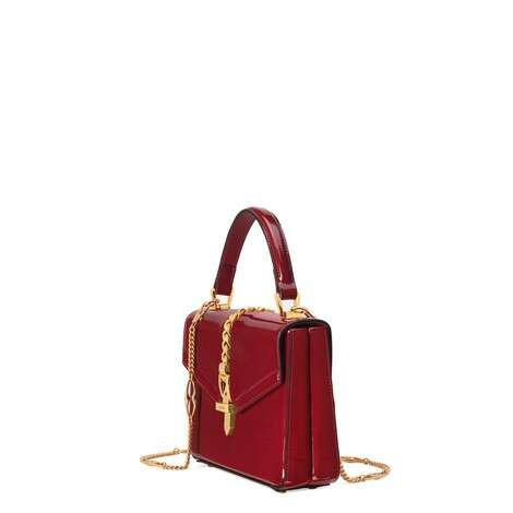 Sylvie 1969系列漆皮迷你手提包