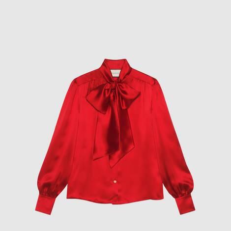 领结丝缎衬衫