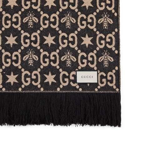 GG 图案盖毯
