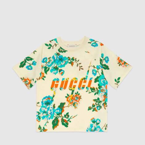 儿童 Gucci 锋刃印花 T 恤