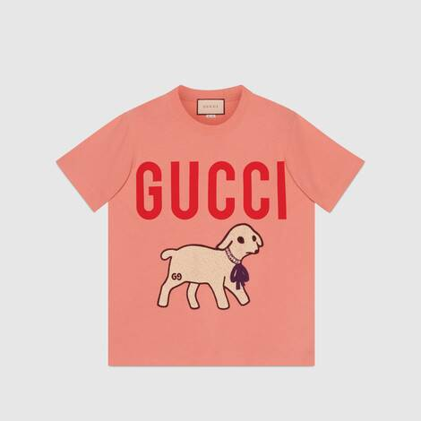Gucci 小羊贴饰 T 恤