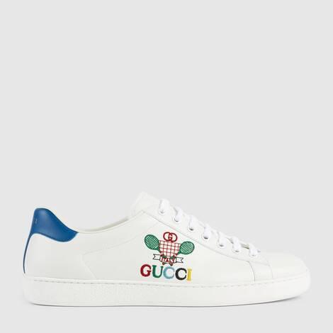 """Ace系列男士饰""""Gucci Tennis""""运动鞋"""