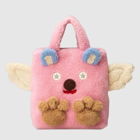 儿童环保毛皮小熊购物袋