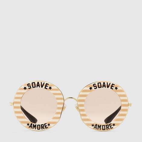 圆形镜框醋纤太阳眼镜