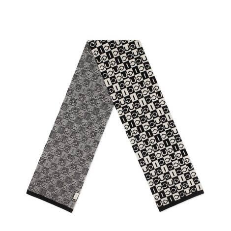 Gucci 棋盘格纹羊毛围巾