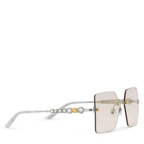 方形金属太阳眼镜