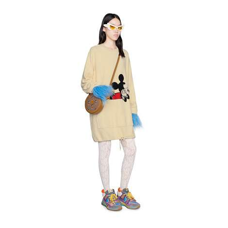 Disney x Gucci棉布连衣裙