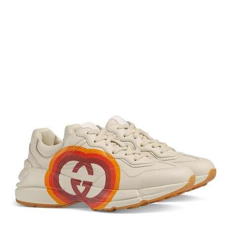 Rhyton系列女士互扣式G和心形图案运动鞋