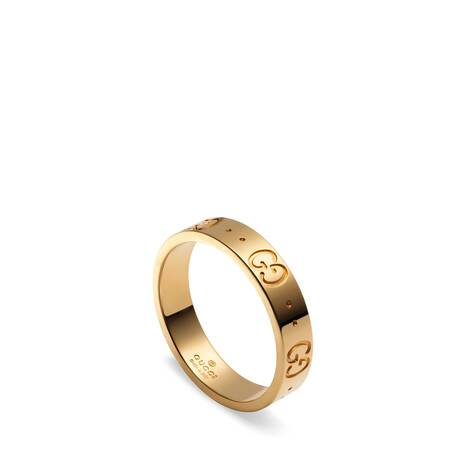 Icon系列18K黄金窄版戒指