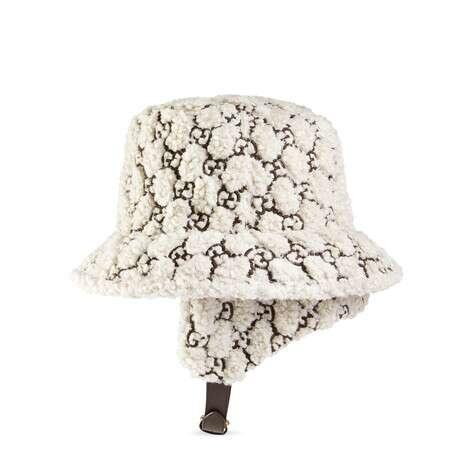 GG卷毛环保毛皮耳罩款渔夫帽