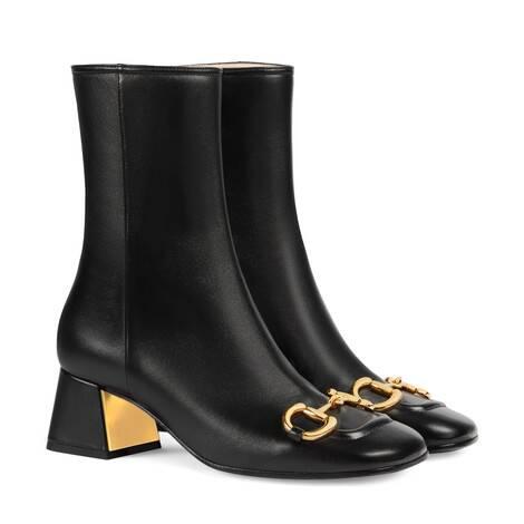 女士马衔扣中跟踝靴