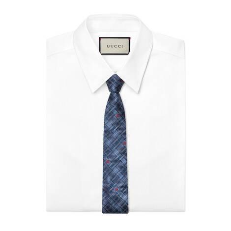 格纹真丝领带