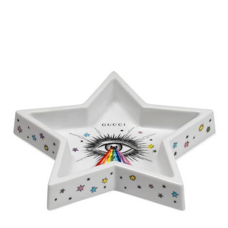 彩色星眼印花星星造型首饰托盘