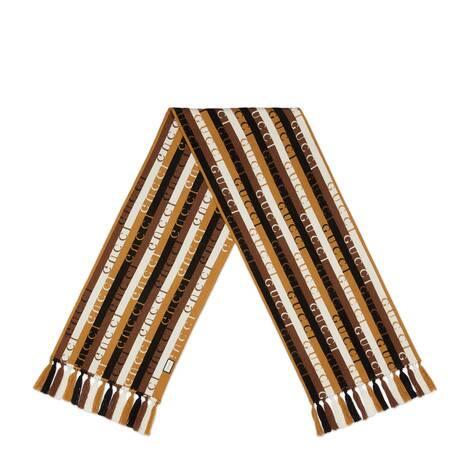 Gucci条纹羊毛围巾