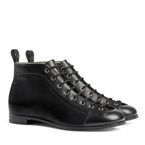 布洛克细节踝靴