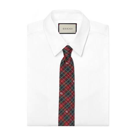 千鸟格真丝领带