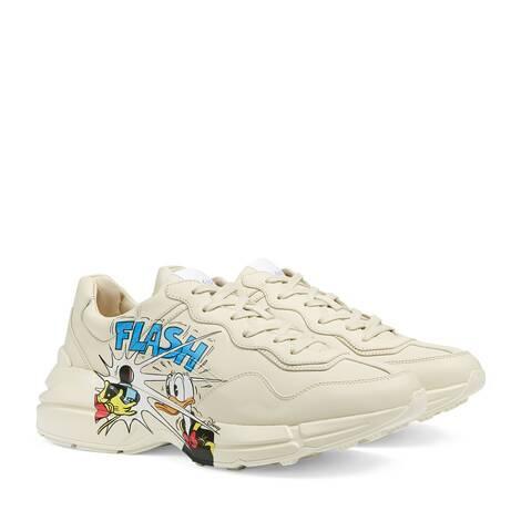Disney x Gucci Rhyton系列唐老鸭印花男士运动鞋