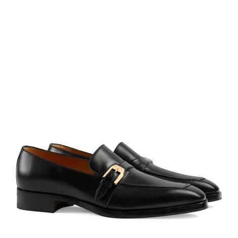 男士搭扣樂福鞋