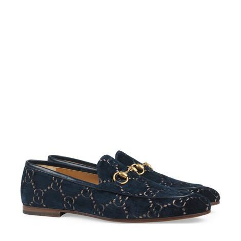 Gucci Jordaan 系列男士GG天鹅绒乐福鞋