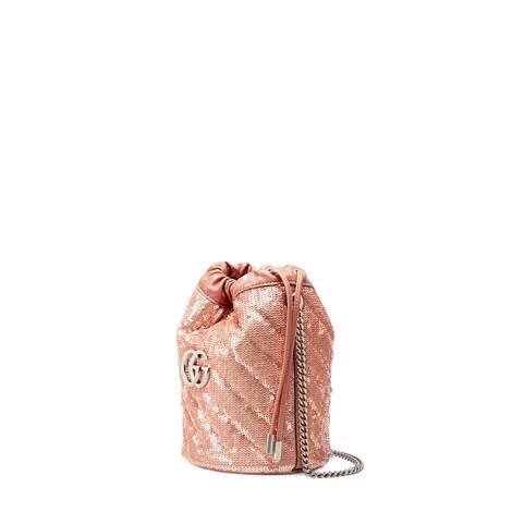 GG Marmont系列迷你亮片水桶包