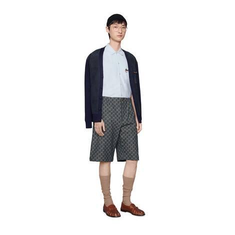 GG Denim系列短裤