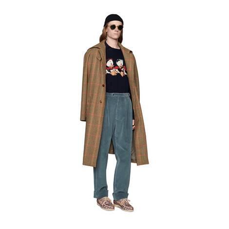 Disney x Gucci棉毛混纺毛衣