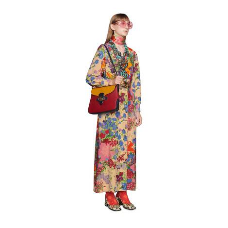 艺术家Ken Scott印花系列人造丝连衣裙