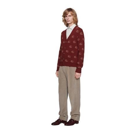 GG条纹切丝棉质衬衫