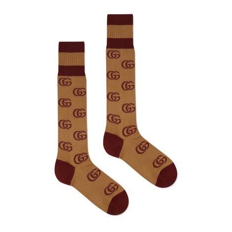 双G图案短袜