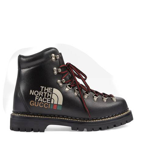 The North Face x Gucci联名系列男士踝靴