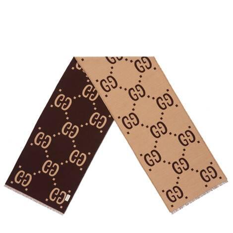 双G提花羊毛真丝围巾