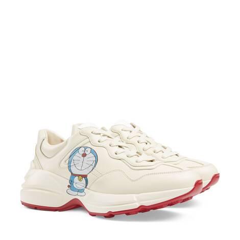 Doraemon x Gucci联名系列Rhyton系列女士运动鞋