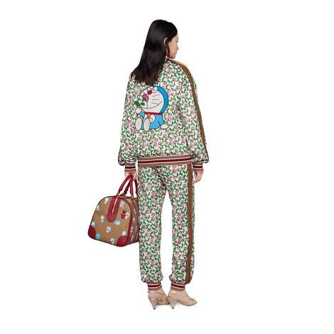 Doraemon x Gucci联名系列平纹针织夹克