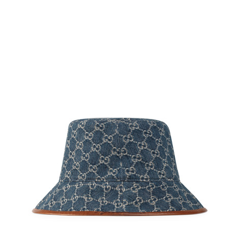 GG Denim系列GG帆布渔夫帽