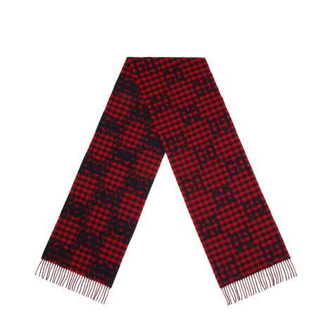 双G提花羊毛围巾