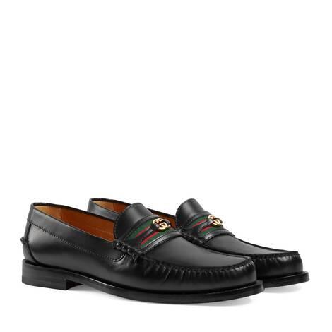 男士互扣式雙G樂福鞋