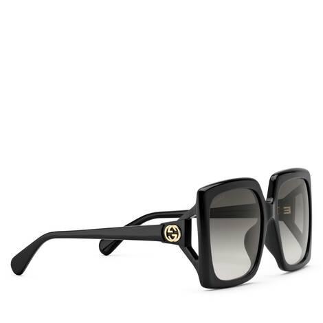 贴合设计方形镜框太阳眼镜