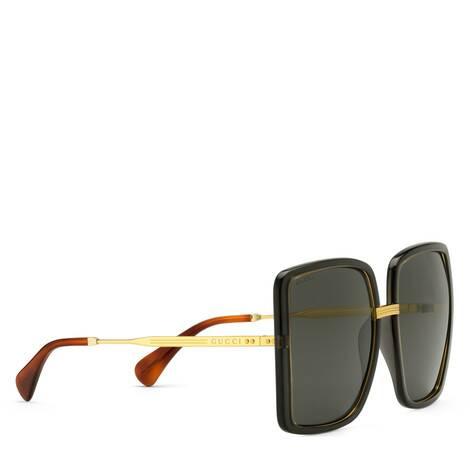 貼合設計方形鏡框太陽眼鏡